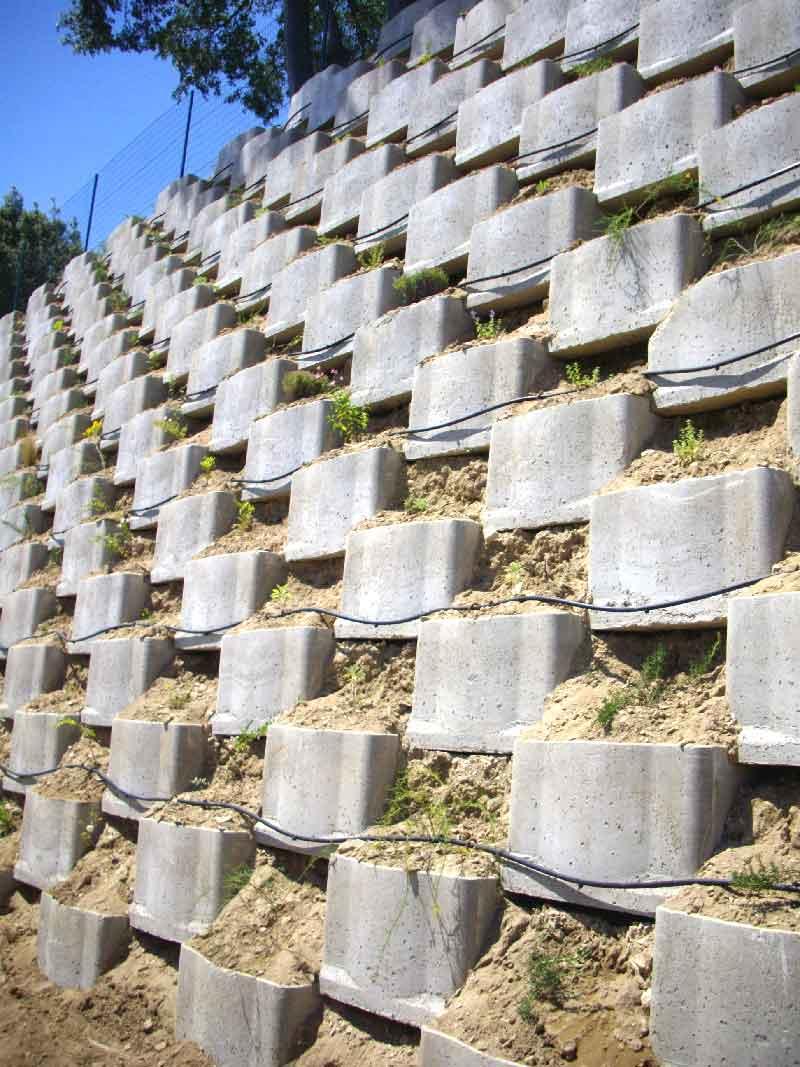 mur de soutènement en gabion végétalisable