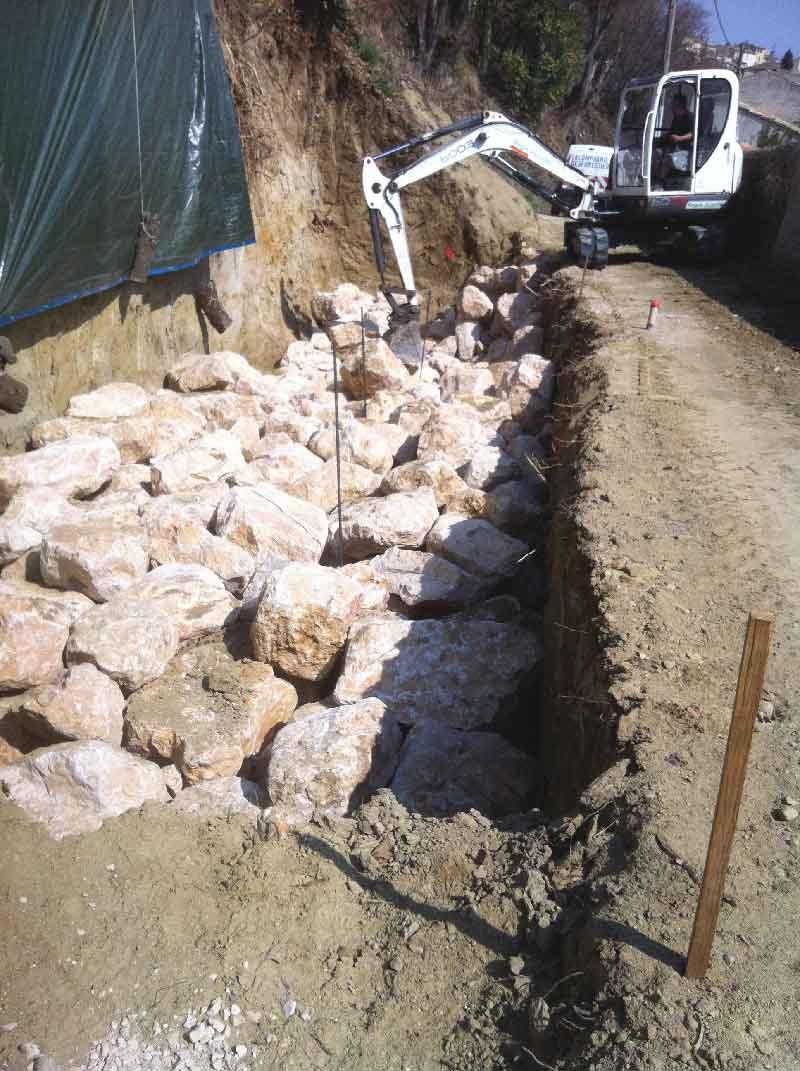 Mur de soutènement en caissons Reboul