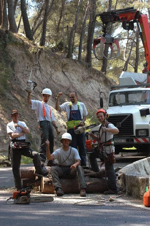 La Compagnie des forestiers sur un chantier dans le Var, au Castellet