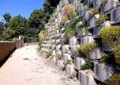 Mur de soutènement végétalisé en caissons Reboul ® – (Vaucluse, 84)
