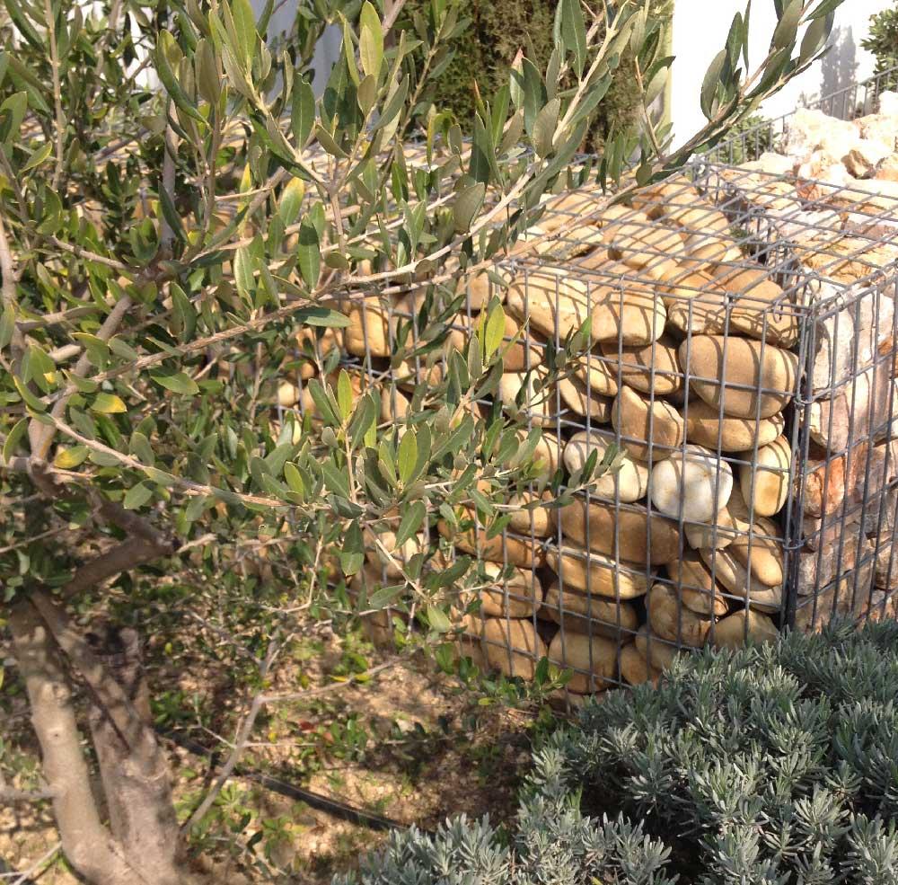 Muret en gabions pour le jardin