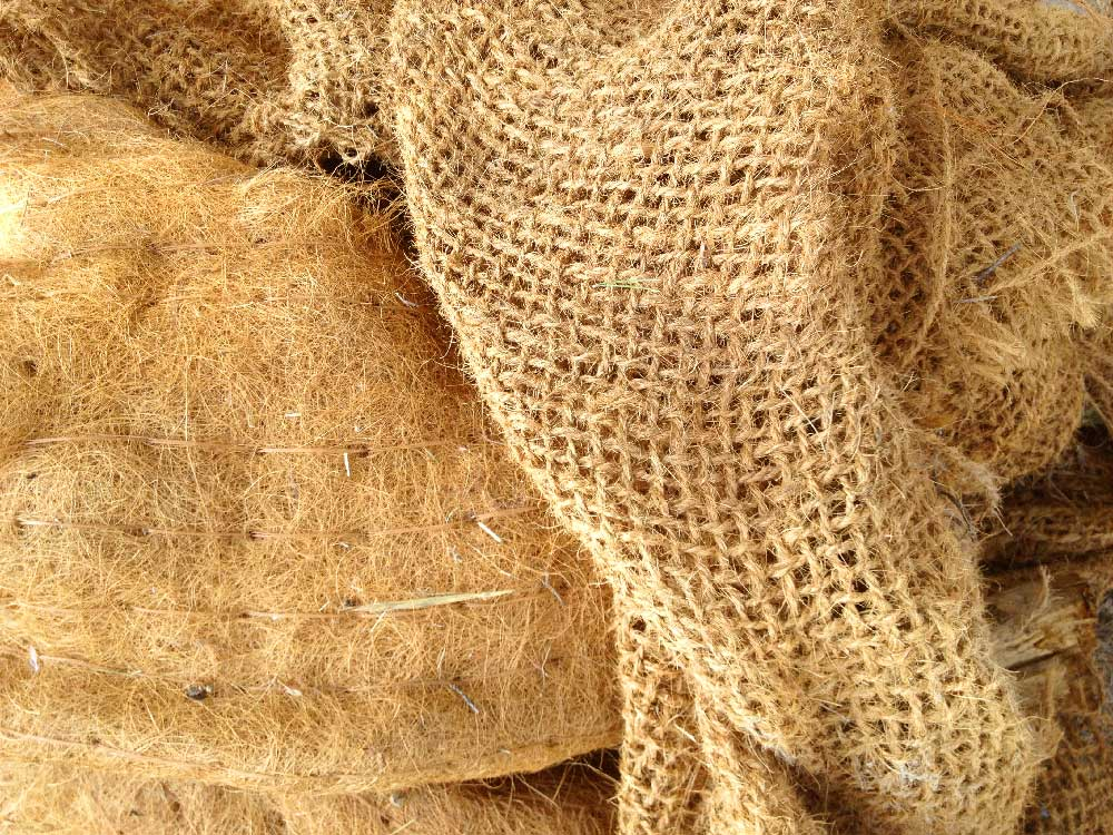Génie végétal : fibres naturelles non tressées et tressées
