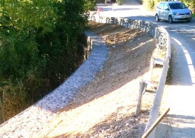 Gabions – Soutènement de routes en gabions, Eguilles (Bouches-du-Rhône,13)
