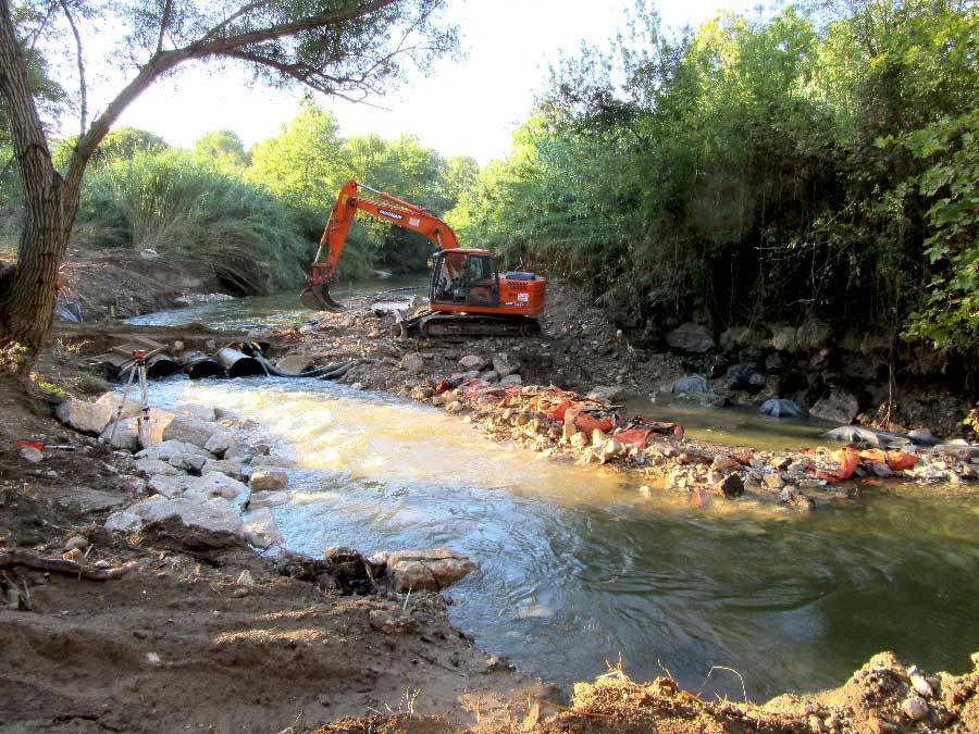 Arasement / suppression d'un seuil - cours d'eau de l'Arc
