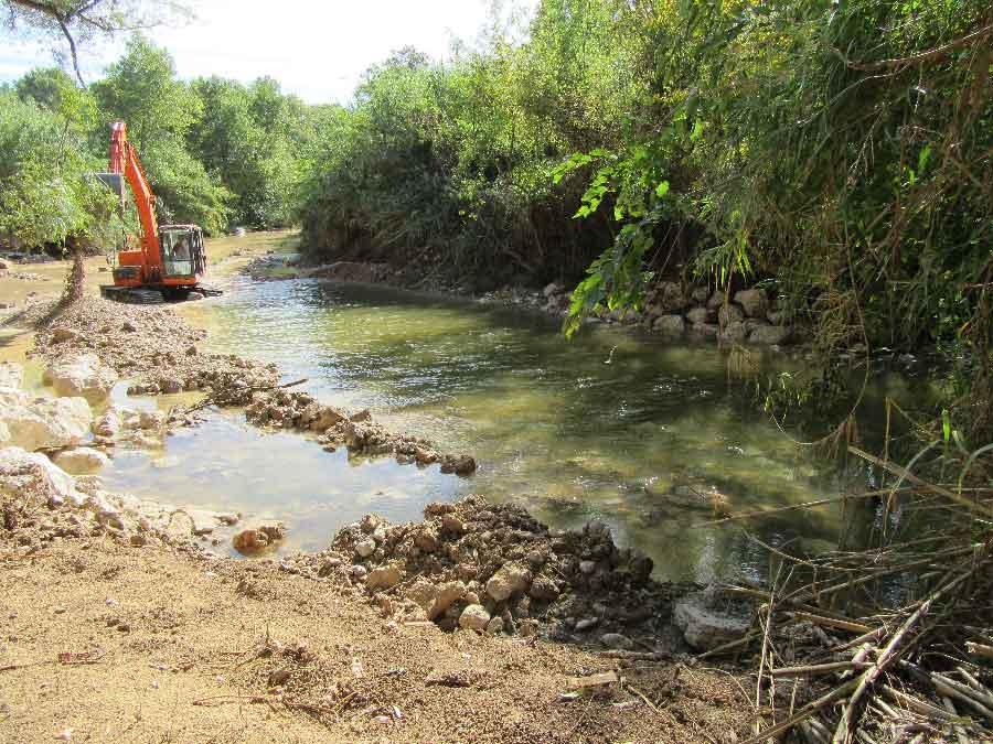Arasement / suppression d'un seuil sur le cours d'eau de l'Arc
