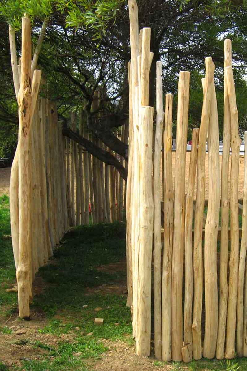 Clôture bois décorative en châtaignier