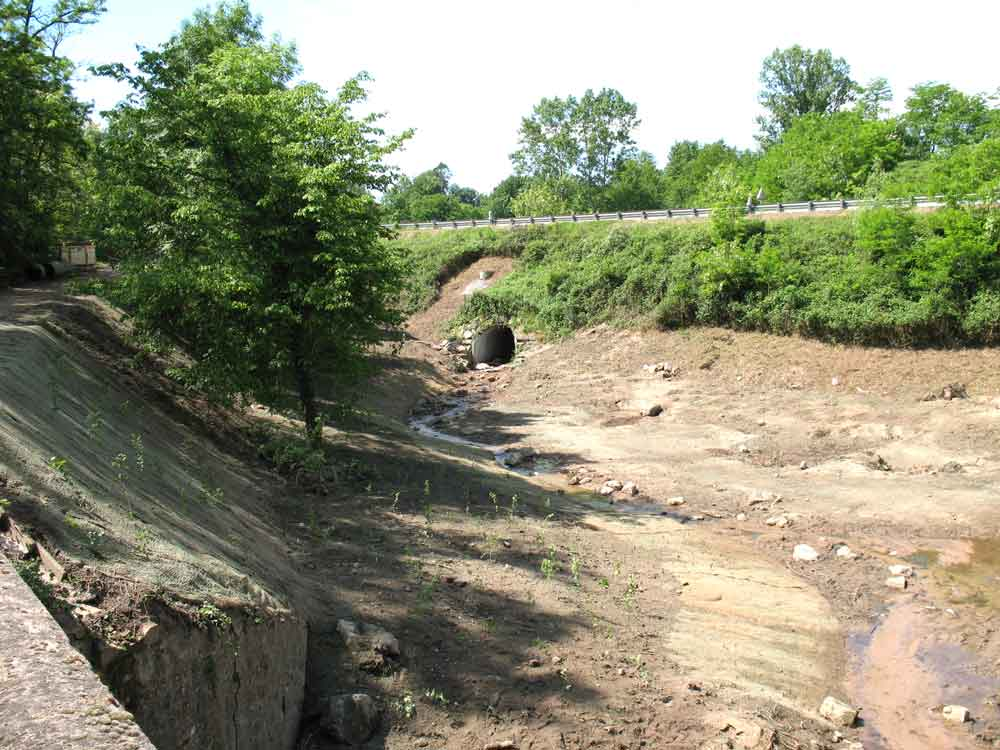 Génie végétal - confortement de berge - Circulation des eaux pluviales