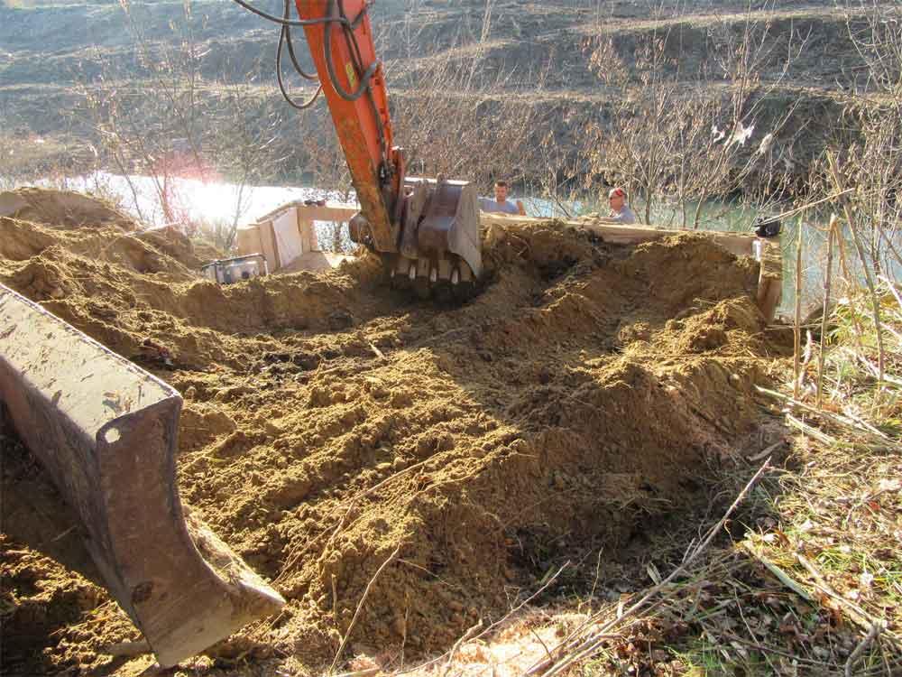 Mesures compensatoires - Construction spécifique pour la nidification du Martin Pêcheur