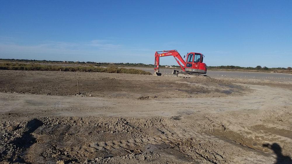 Mesure compensatoire - Construction d'un îlot pour l'accueil des Laro-limicoles