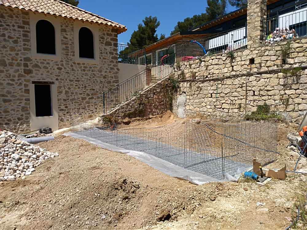 Construction d'un gradin en gabions