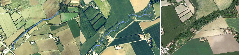 Le Vistre en 2002, 2006 et 2018 - © 2018 Google - Image Landsat / Copernicus