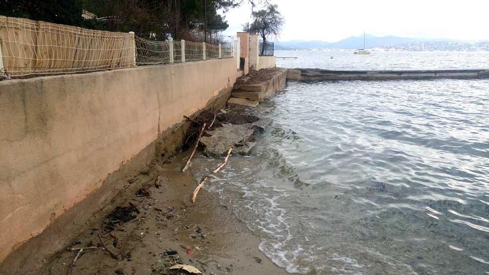 Sentier du littoral, lieux choisi pour la pose d'un platelage bois