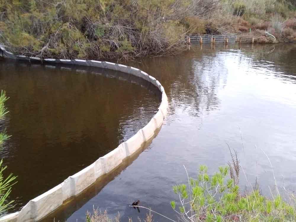 Barrage flottant pour diminuer la propagation des MES