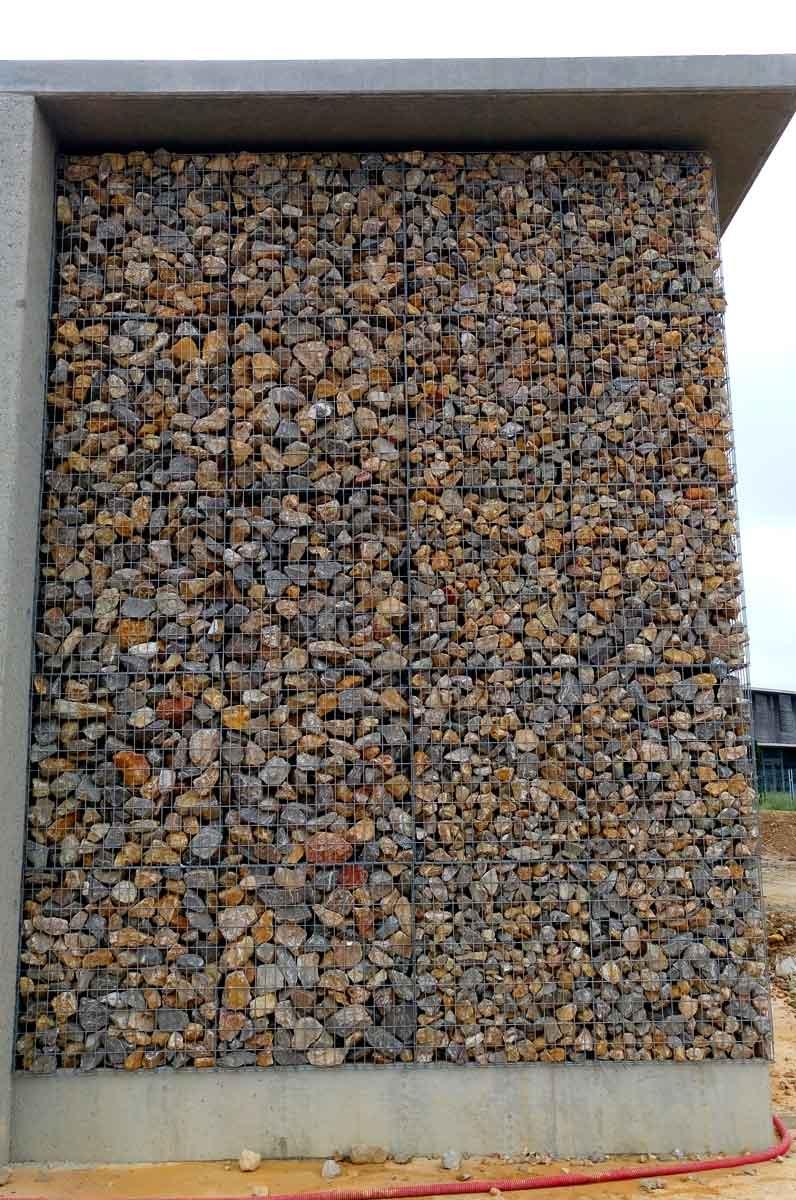 granulométrie des pierres différentes pour les gabions