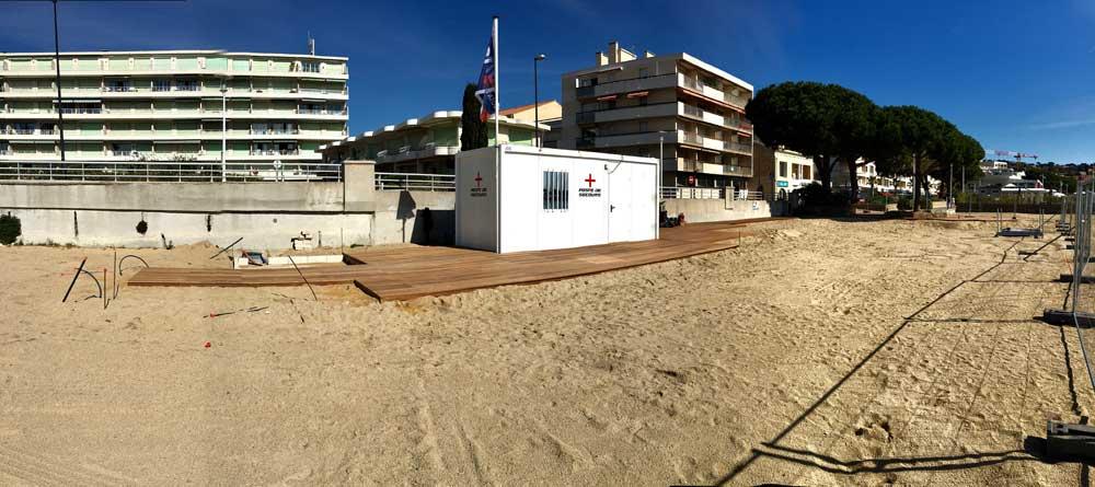 Platelage bois sur la plage - Sainte-Maxime