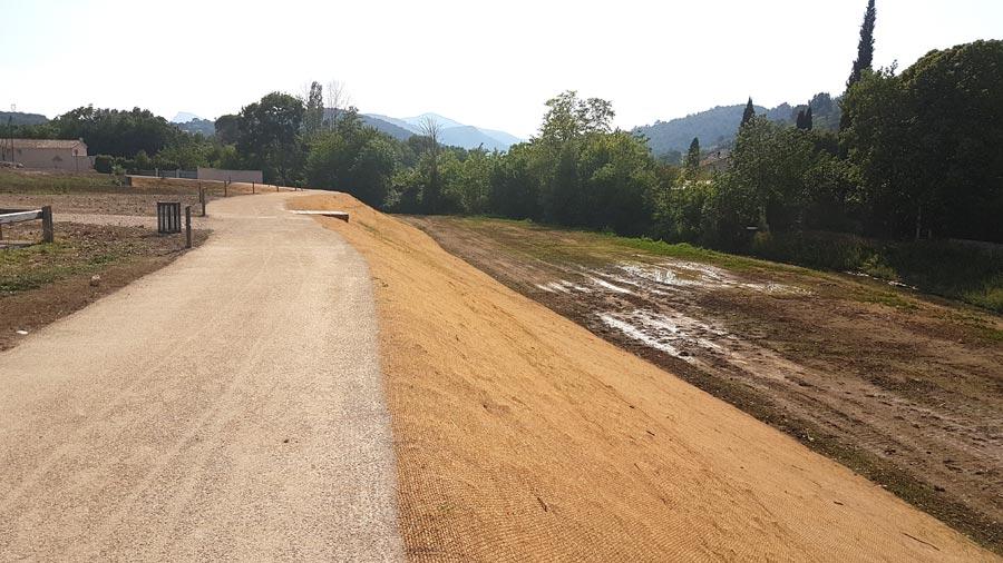Travaux de terrassement des berges finalisés