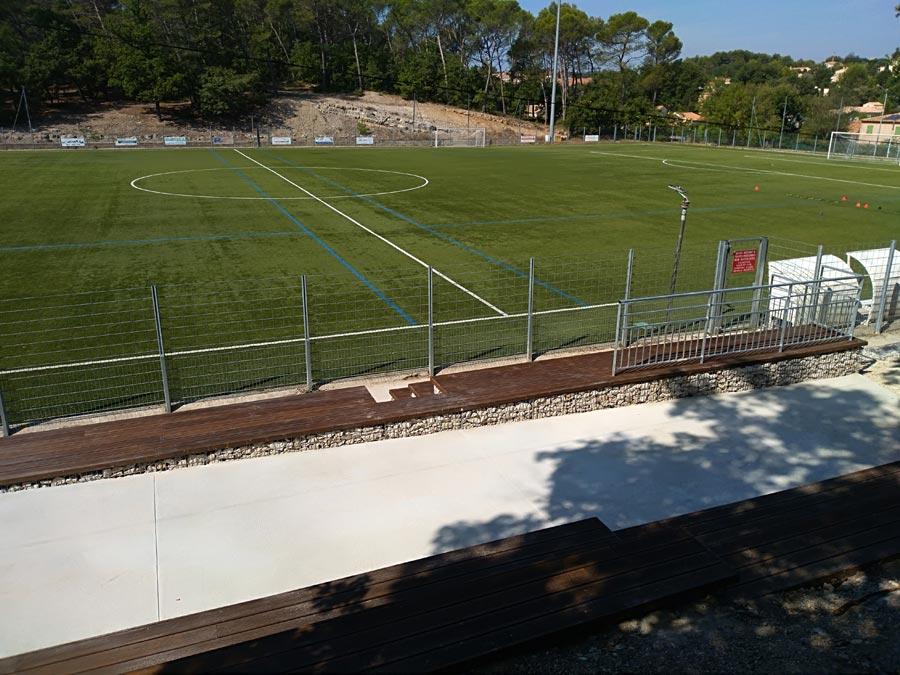 Gradins en gabions - Stade Paul Prieur à Fuveau