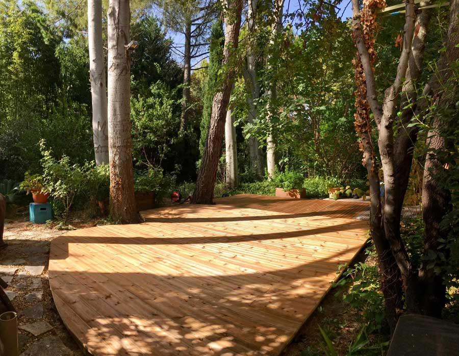 extension d'une terrasse en bois