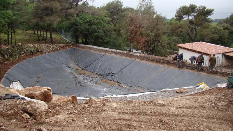 Création d'un bassin de rétention d'eaux pluviales