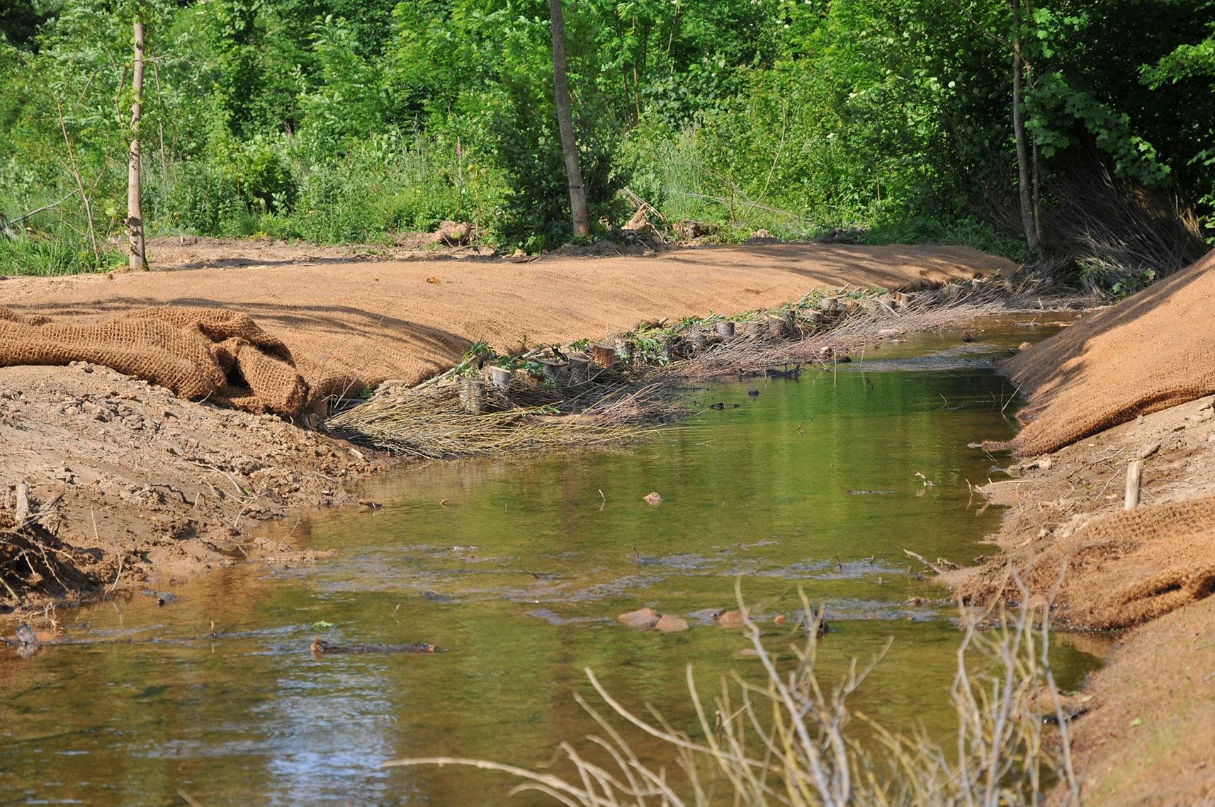 génie végétal - Restauration d'un cours d'eau