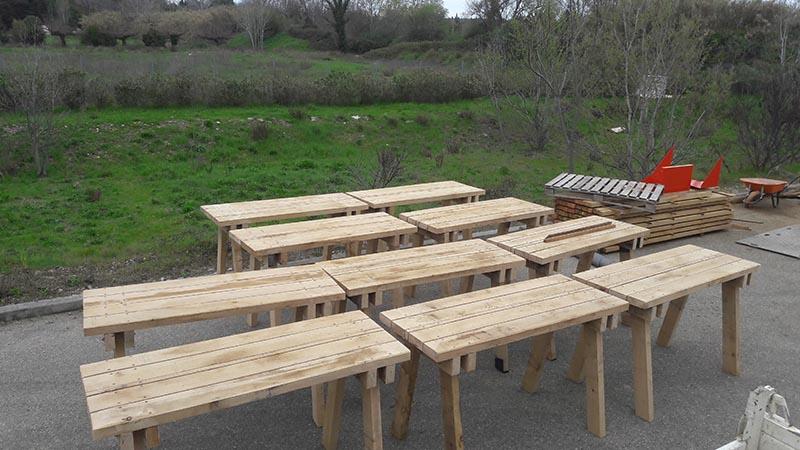 Mobilier bois tables Pique-nique