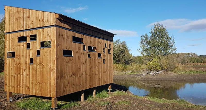 Observatoire en bois - étang