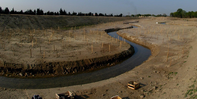 Génie écologique reméandrage d'un cours d'eau