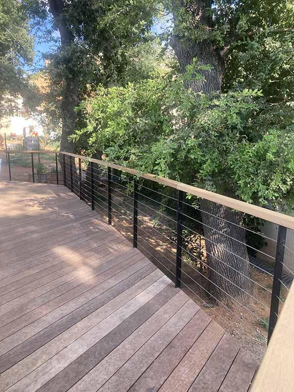 Terrasse bois et garde corps