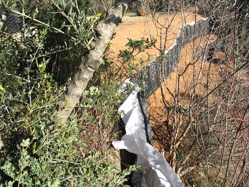 Lutte contre l'érosion - tunage géogrille