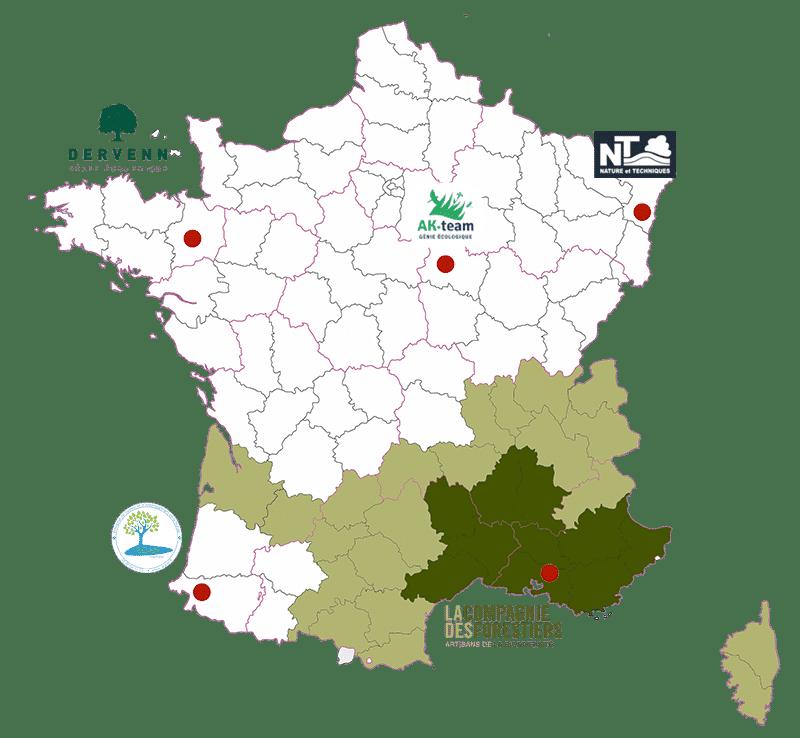 Carte France réseau génie écologique