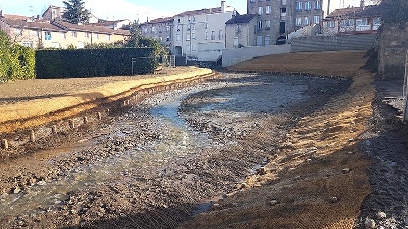 Restauration d'un cours d'eau - Création de méandres
