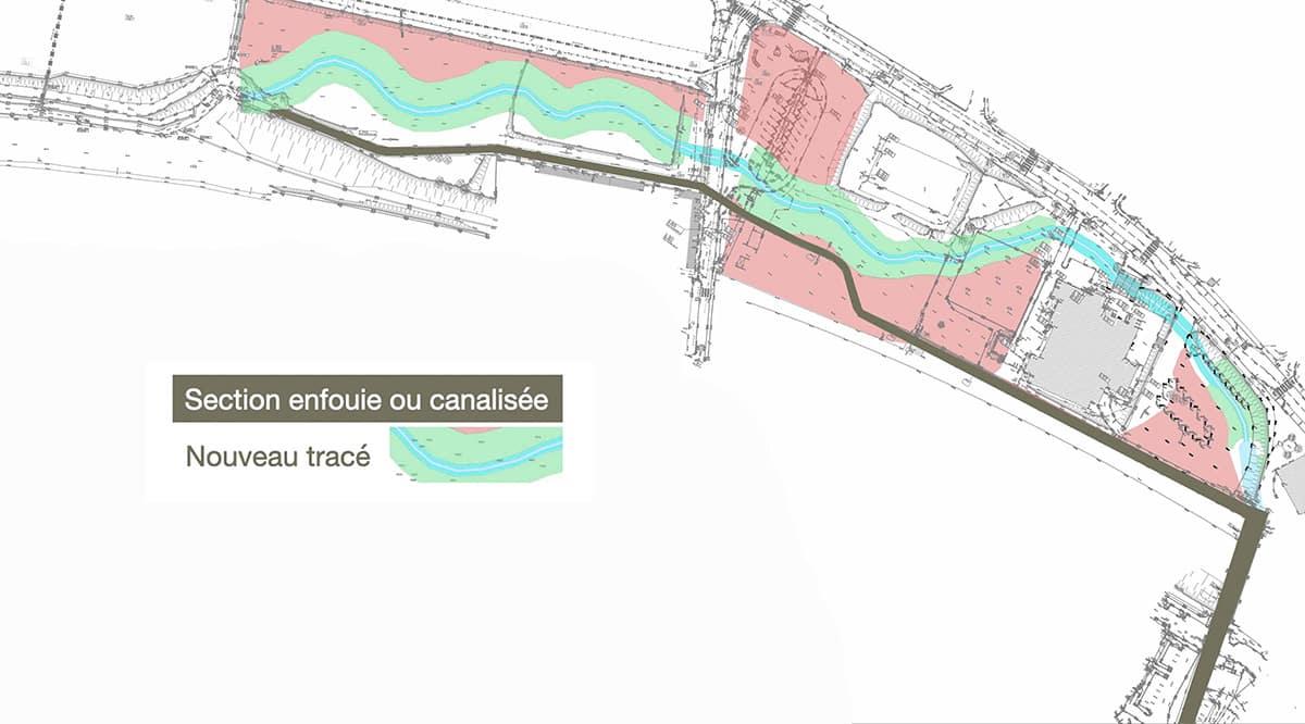 Plan de restauration morpho-écologique du cours d'eau de l'Ondaine