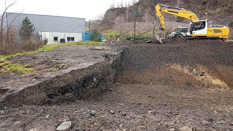 Excavation des terres polluées