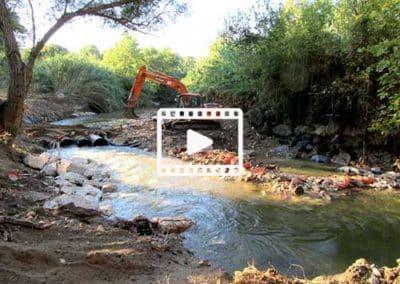 Continuité écologique – arasement d'un seuil pour la sauvegarde des anguilles. L'Arc – Velaux (Bouches-du-Rhône,13)