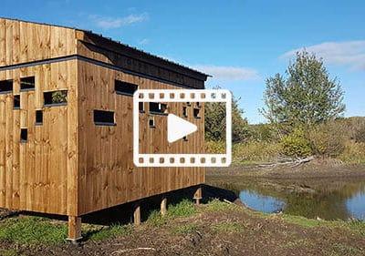 Ponton, observatoire ornithologique et poste de pêche – Étang de La Capelle, (Gard, 30)