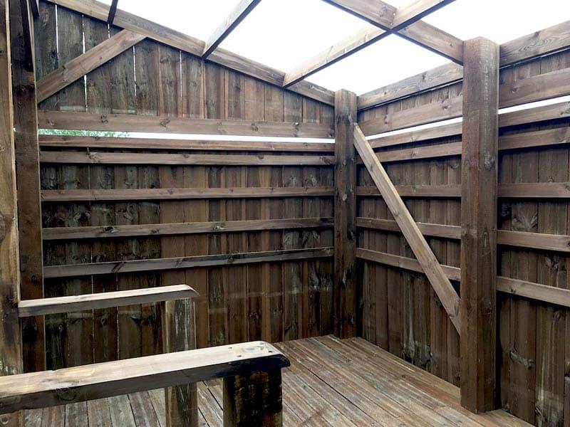 Observatoire faunistique en bois