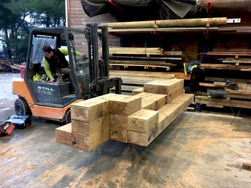Mobilier en bois - banc