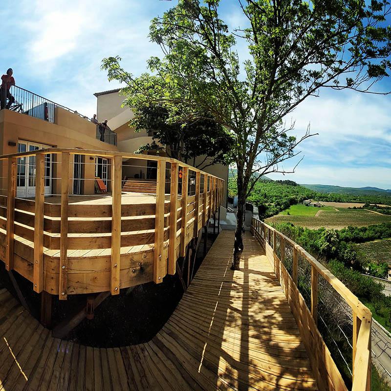 Terrasse bois en chêne massif