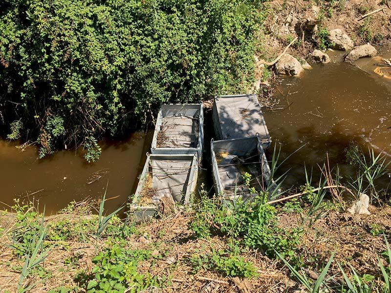 Travaux en rivière, filtre MES (matières en suspension)